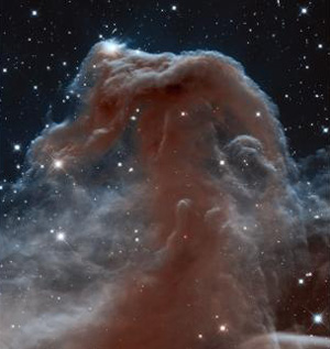 Hubble's view of the Horsehead Nebula.