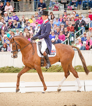 William Fox-Pitt and Chilli Morning lead at the Kentucky Three-Day Event after setting the competition alight on Dressage Day 2.