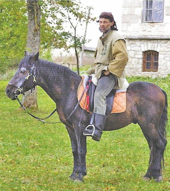 A Lithuanian Long Rider with his Žemaitukai horse.