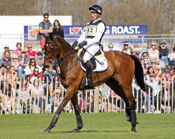 Dirk Schrade and King Artus at Badminton.