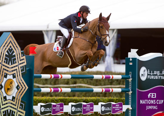 Marc Dilasser and Obiwan de Piliere Jo produced one of the two double-clear rounds that helped secure victory for France at the fourth leg of the Furusiyya FEI Nations Cup Jumping 2013 series in Lummen, Belgium on Friday.
