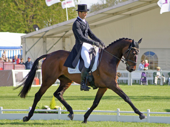 New Zealand's Jonathan Paget and Clifton Promise are in fourth place after the final day of dressage at Badminton.