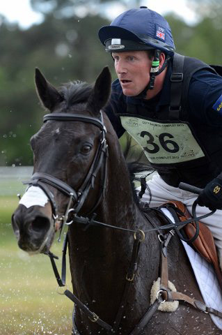 Oliver Townend and Black Tie, third in the CCI3*.