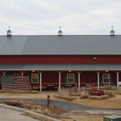 The main barn before the tornado.