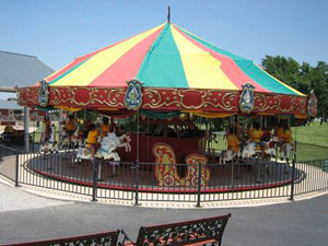 The vintage carousel before the tornado.
