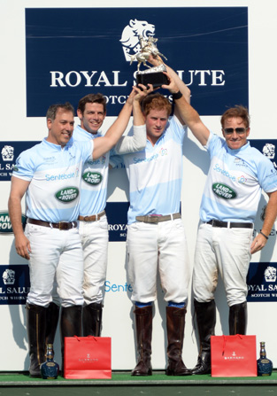 Winning team from left to right, Michael Carrazza, Malcolm Borwick, Prince Harry and Wellington's Marc Ganzi.