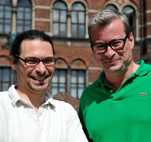 Dr. Ludovic Orlando and right professor Eske Willerslev.
