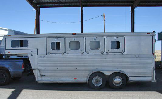This horse trailer was used to transport more than 1100 pounds of marijuana.