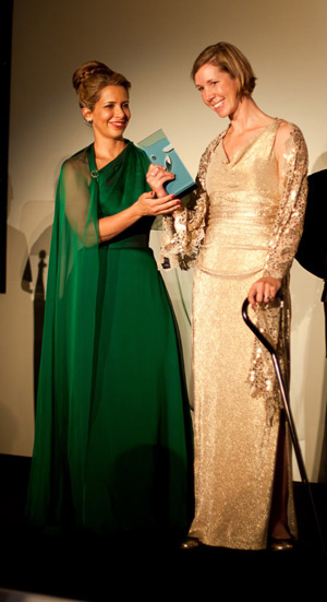 FEI President HRH Princess Haya and Courtney King-Dye at the FEI Awards 2012 ceremony in Istanbul. © FEI/Murathan Ozbek