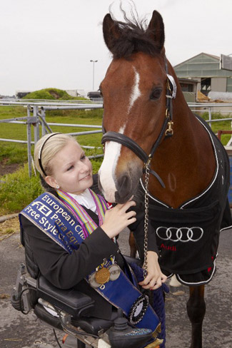 Denmark's Stinna Kaastrup, pictured here with her former ride Labbenhus Snovs who sadly passed away last summer, will be determined to put the host nation on the medal podium at the JYSK FEI European Para-Dressage Championships in Herning, Denmark next month.