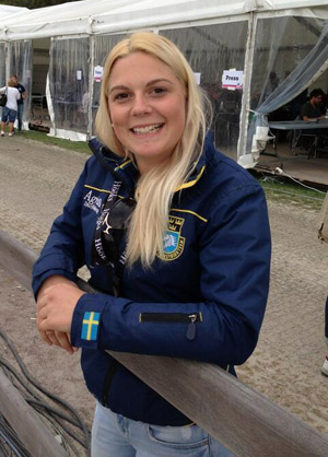 Young Swedish rider Frida Andersén is currently lying fifth on Herta.