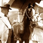Will Kellogg and actor Tom Mix with trick horse Pep.