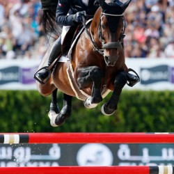 Aymeric De Ponnat and Armitages Boy flying to a clear round to seal victory for France.
