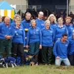 A small number of the 750 volunteers it takes to run the Fidelity Blenheim Palace International Horse Trials.