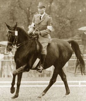 Renowned Swiss rider Henri Chammartin won dressage gold at the 1964 Olympic Games in Tokyo with Woermann.