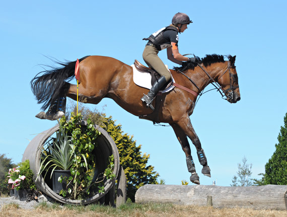 Monica Oakley and Fontain, who head to Australia for the Adelaide 4* after Arran Station at Labour Weekend.