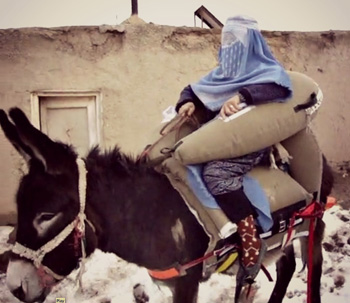 The Donkey Ambulance has been created to help save lives in countries such as Afghanistan.