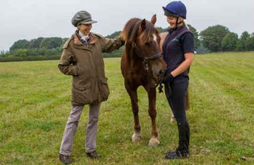 Princess Anne, left, is adopting World Horse Welfare Annie.