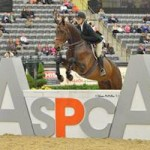 Lillie Keenan and Clearway on their way to winning the 2013 ASPCA Alfred B. Maclay Finals Championship at the Alltech National Horse Show.