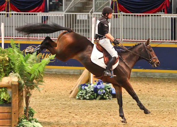 Waylon Roberts and Bill Owen pulled out all the stops to come from behind and win the Horseware Indoor Eventing title for an incredible seventh time.