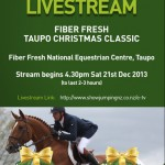 World Cup showjumping to be streamed live on internet from Taupo