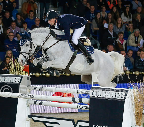 Germany's Daniel Deusser and Cornet d'Amour won the latest Longines FEI World Cup Jumping leg, at Mechelen, Belgium, on Monday.
