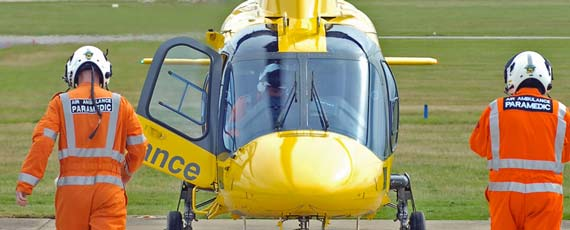 Paramedics prepare for a mission. Photo: Britain's Air Ambulance Service