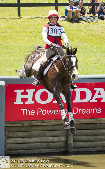 Eventing Super League series leader Dannie Lodder and Moochi.