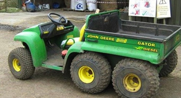 The stolen John Deere Gator was vital to the farm's operation.