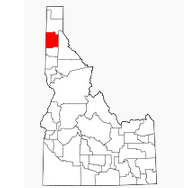 Location of Kootenai County in Idaho.