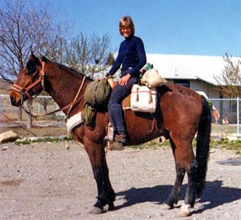 "In 1973 Lucy Leaf set off on a 7,000 mile journey aboard a non-pedigreed horse named Igor. The duo travelled a northern route across the country from Maine to Oregon and then returned from California to Virginia via a southern route. Despite having led a very vigorous outdoor life, in 2011 a tick bite devastated Lucy's health.  Unmanageable pain spread from the tick bite across her body. The constant agony destroyed her appetite, kept her awake for days and eventually caused her to black out. She warned other Long Riders, ""Having enjoyed good health all my life (and taken it for granted, no doubt) I'm amazed how quickly my health, which seemed prime only weeks ago, has gone completely south."""