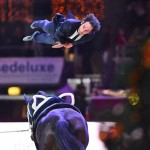 World vaulting champion Nicolas Andreani (FRA) wowed the FEI World Cup™ Vaulting judges in Salzburg (AUT) with his impressive Einstein performance on Le Grand Chevalier, lunged by Eva Maria Kreiner - now he will be defending his title with a vengeance at the series Final at the Jumping International de Bordeaux (FRA) 7-8 February 2014.