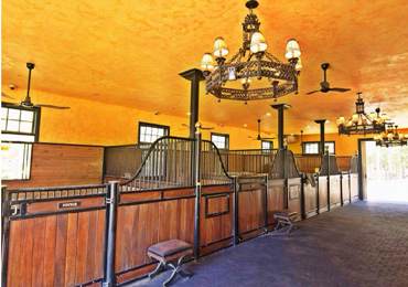 The property features a deluxe six-stall barn. Photo: Hurwitz James Company