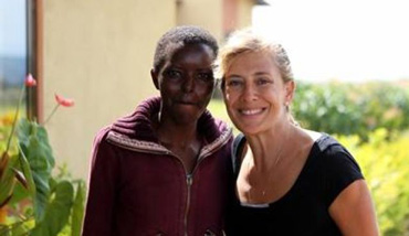 Anne Heyman in Rwanda. Photo by Agahozo-Shalom Youth Village Facebook page