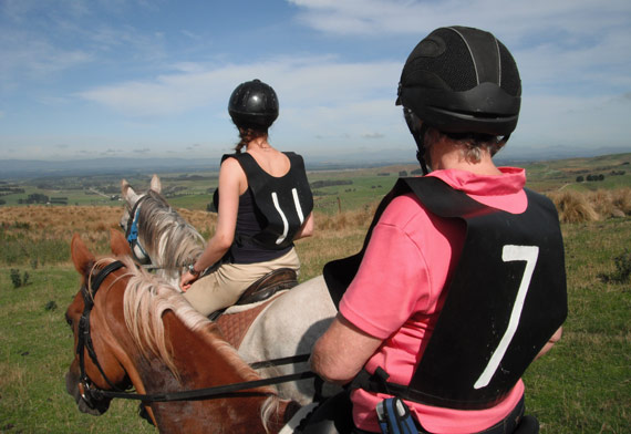 Endurance riders take in the view during a competition in New Zealand. The weekend's FEI endurance forum discussed whether there should be different rules for 'Classic Endurance riding' and 'Endurance Racing'.