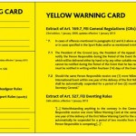 It's not all black and white when it comes to FEI yellow cards