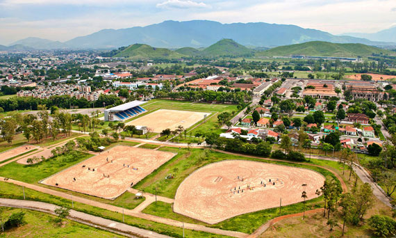 The Deodoro cluster in Rio will host equestrian, shooting, hockey, rugby, and the pentathlon.