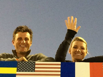 Boyd and Silva Martin at the Nations Cup Show Jumping in Wellington, Florida, earlier this month.