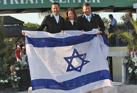 The first Nations Cup Team for Israel comprised of Elad Yaniv, Danielle Goldstein, and Joshua Tabor.