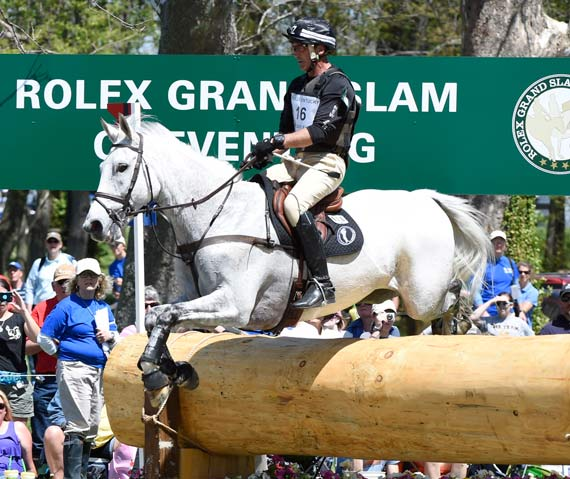 Rolex Grand Slam contender Andrew Nicholson is seventh on Avebury.