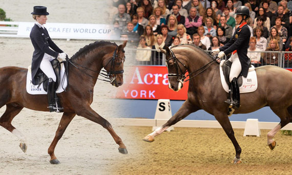 Defending champions Helen Langehanenberg and Damon Hill NRW, left, will face the toughest of opposition from Olympic and European champions Charlotte Dujardin and Valegro at next week's Reem Acra FEI World Cup Dressage 2013/2014 Final at Lyon, France.