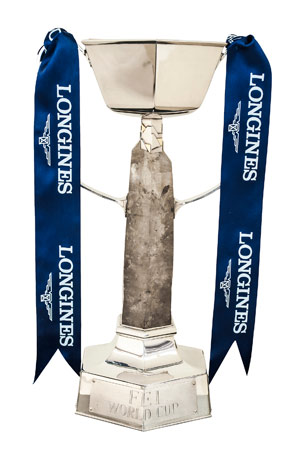 The Longines FEI World Cup Jumping trophy.