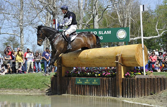 William Fox-Pitt and Bay My Hero on the cross-country at Kentucky.