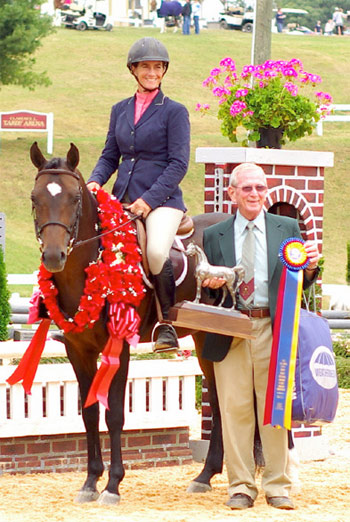 2014 National Champion Purebred Green Working Hunter, with Kristin Hardin.