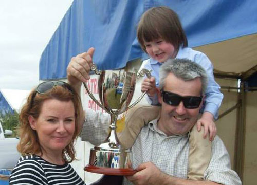 Cathal O'Malley with his wife, Fiona King, and son Gavan. O'Malley posted the picture last Friday.