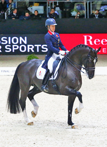 Charlotte Dujardin and Valegro on their way to victory.
