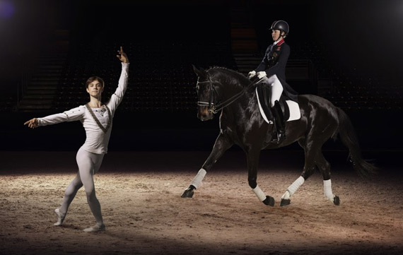 Charlotte Dujardin  with Kanstantsin Geronik from the Minsk Bolshoi ballet.