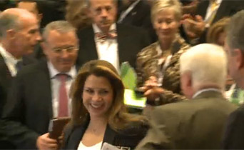 Princess Haya returned to the assembly to a standing ovation.