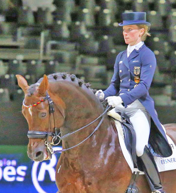 Helen Langehanenberg and Damon Hill NRW were second with 83.353.