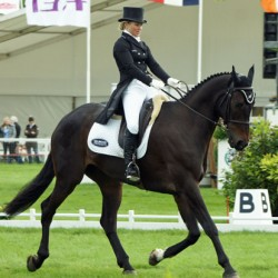USA's Clark Montgomery leads Badminton Horse Trials